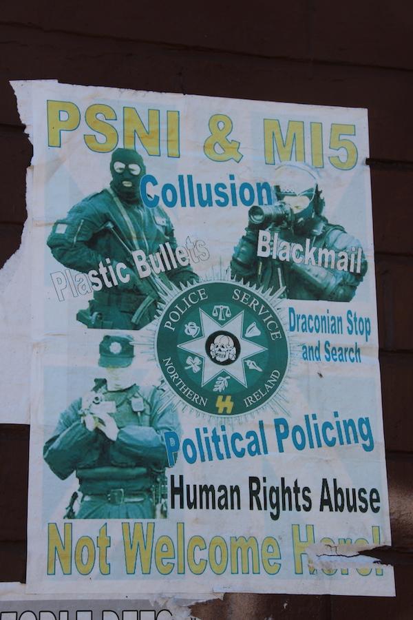 Anti-PSNI-Poster Belfast