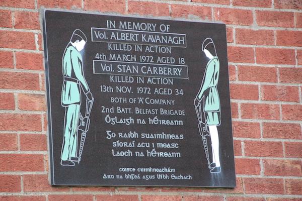 Gedenktafel Belfast